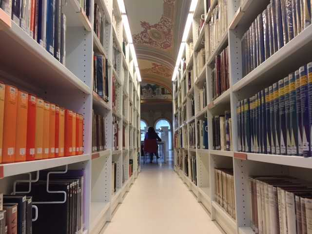 library, MNAC, archive, bookshelves