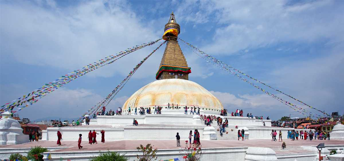 The Boudhanath Stupa provides one of the best backgrounds to witness the sunset