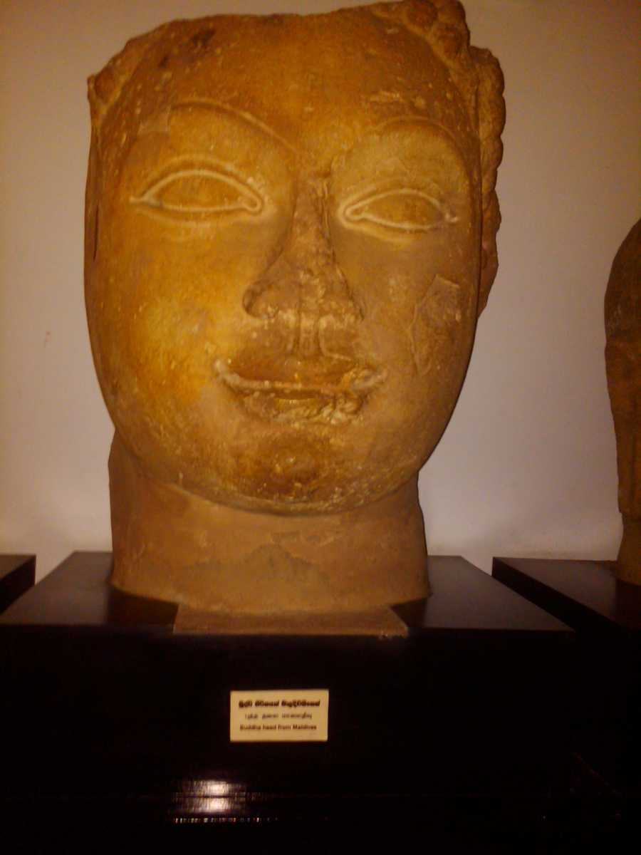 Buddhist Statue in National Museum Maldives