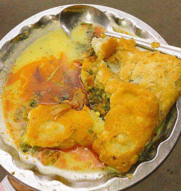 street food in nagpur, patodi and kadhi nagpur