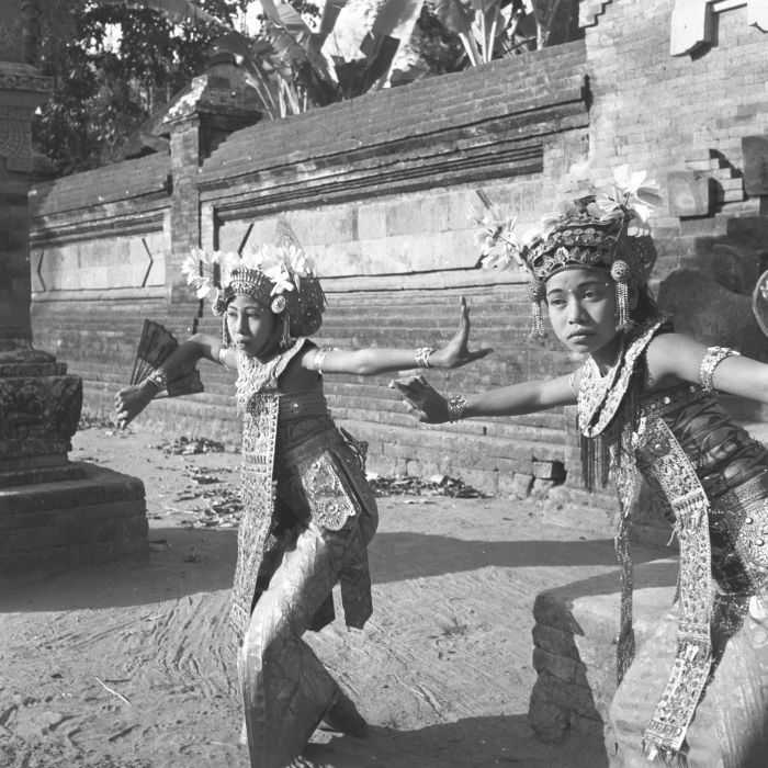 Dancers in Bali from the 1950s