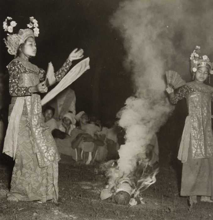 Balinese Dancers Performing Sanghyang, a Sacred Dance of Bali
