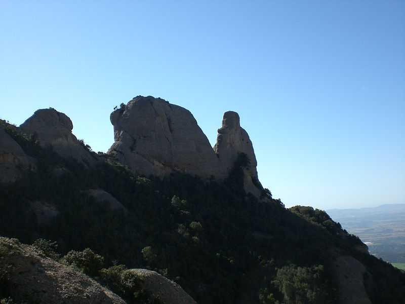 mountain peak, sant jeroni, montserrat, hiking