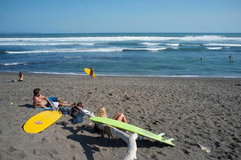 Surfing in Bali, Canngu Beach