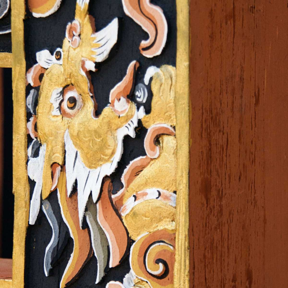 Parzo Wall Carving in Bhutan
