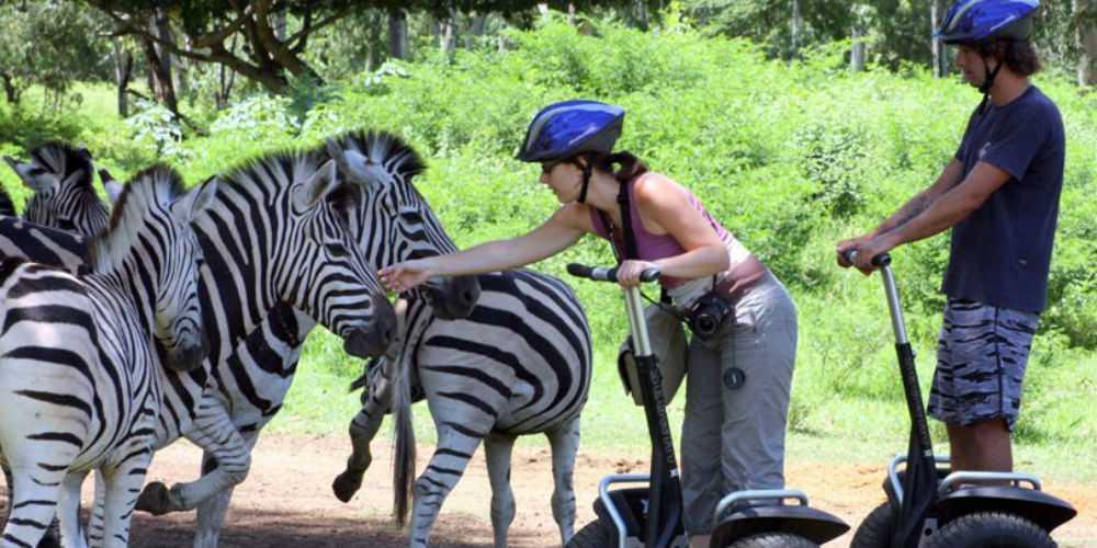 Casela World of Adventures, segway safari trip in Mauritius, excursions in Mauritius