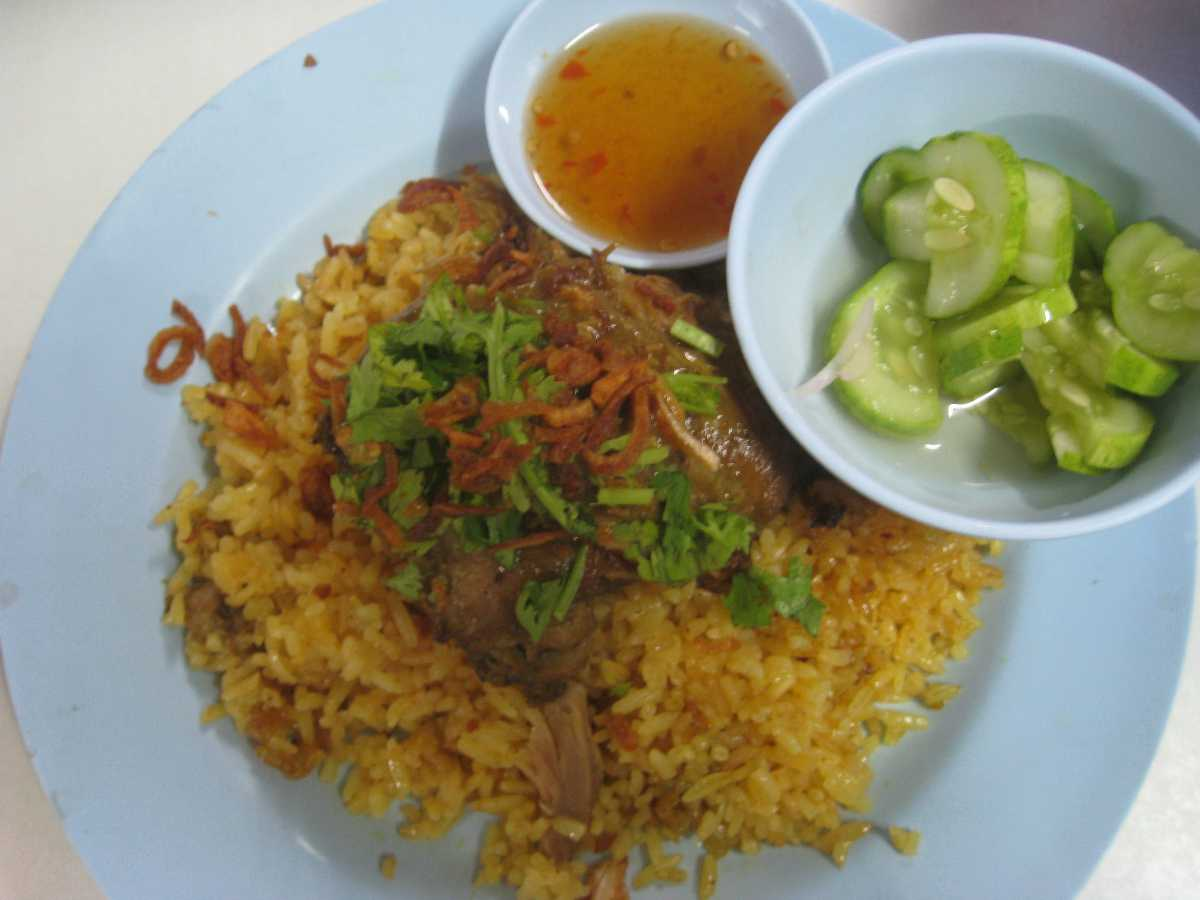 Chicken Biryani, a Popular Halal Food in Chiang Mai Thailand
