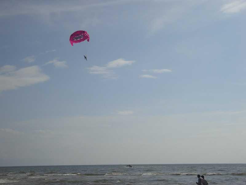 Parasailing in Goa, Colva Beach