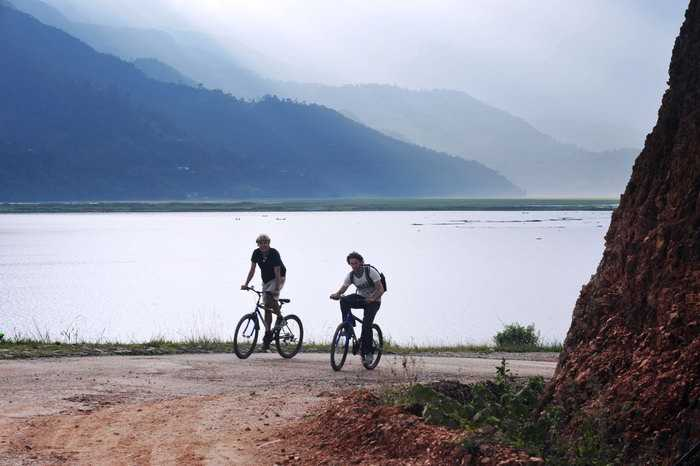 Mountain biking in Pokhara, Nepal