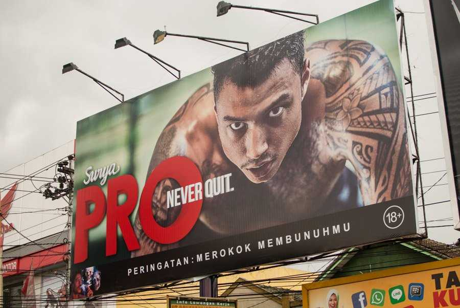 Advertisements of Cigarettes in Indonesia