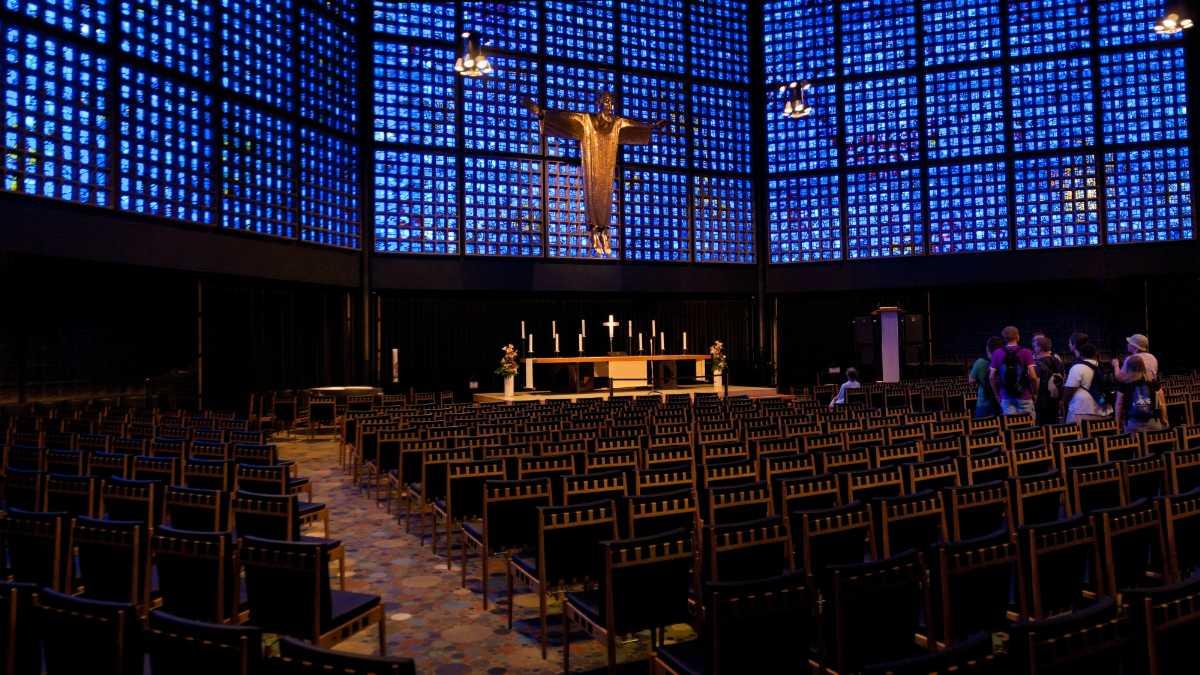 Inside view of Kaiser Wilhelm Memorial Church, Berlin