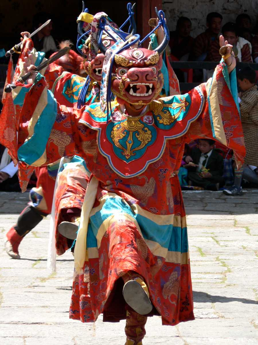 The Cham dance in Bhutan