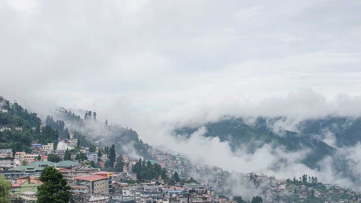 Darjeeling view from Chowrasta