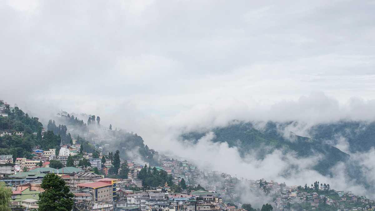 Darjeeling view from Chowrasta