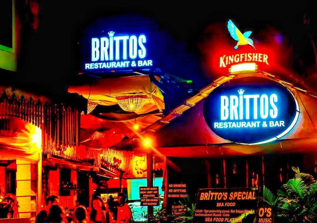 Brittos baga beach shack in goa