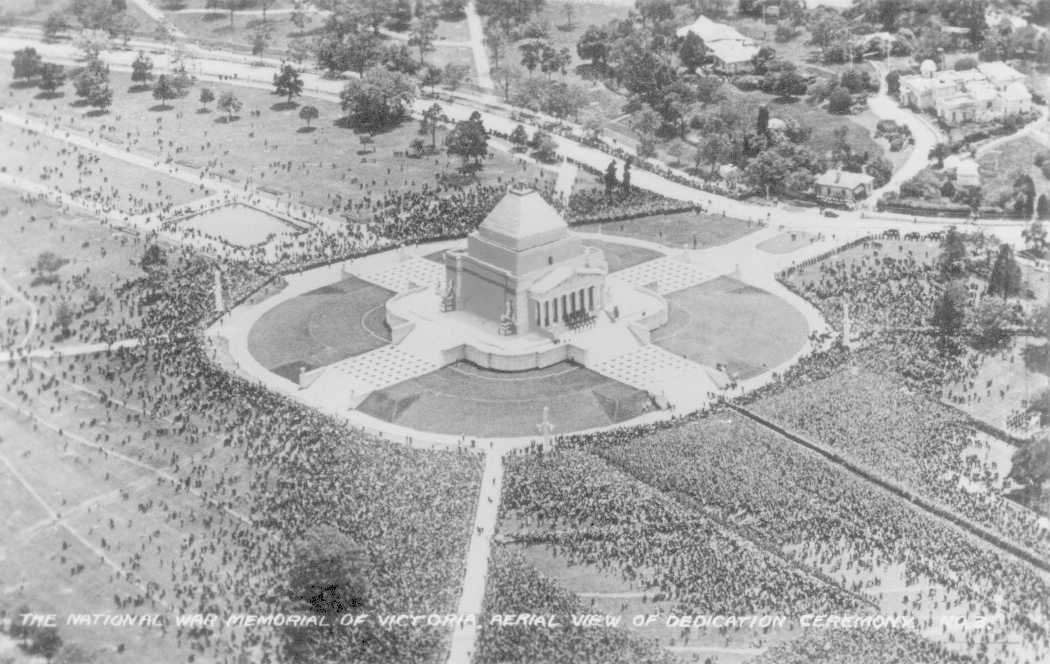 Shrine of Remembrance Melbourne 1934