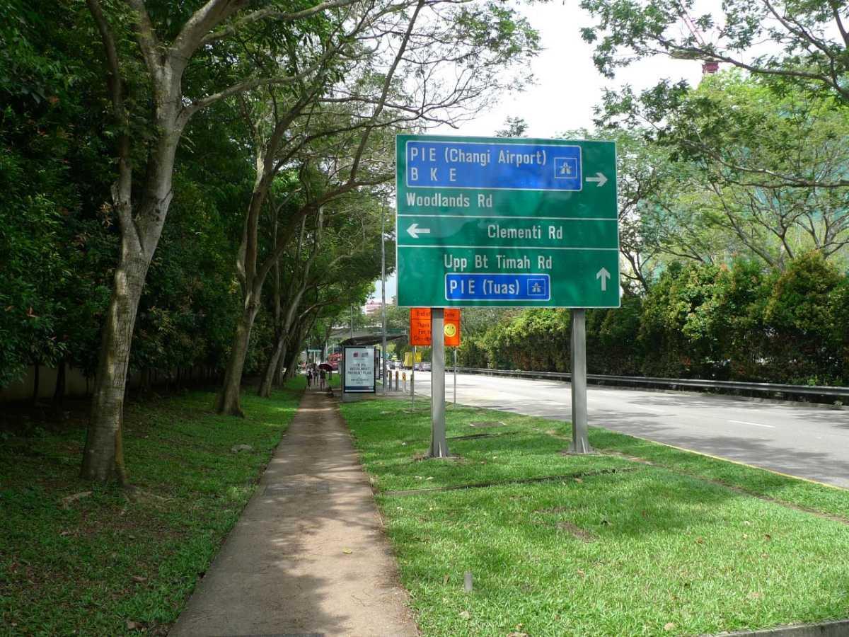 Cycling along Bukit Timah Singapore