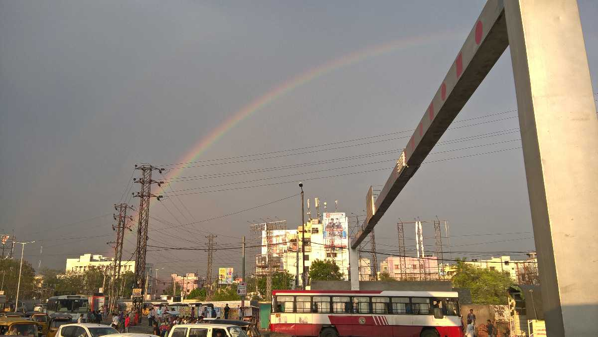 Double Rainbow in Hyderabad