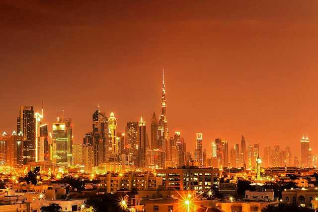 Dubai Skyline from At the Top Burj Khalifa