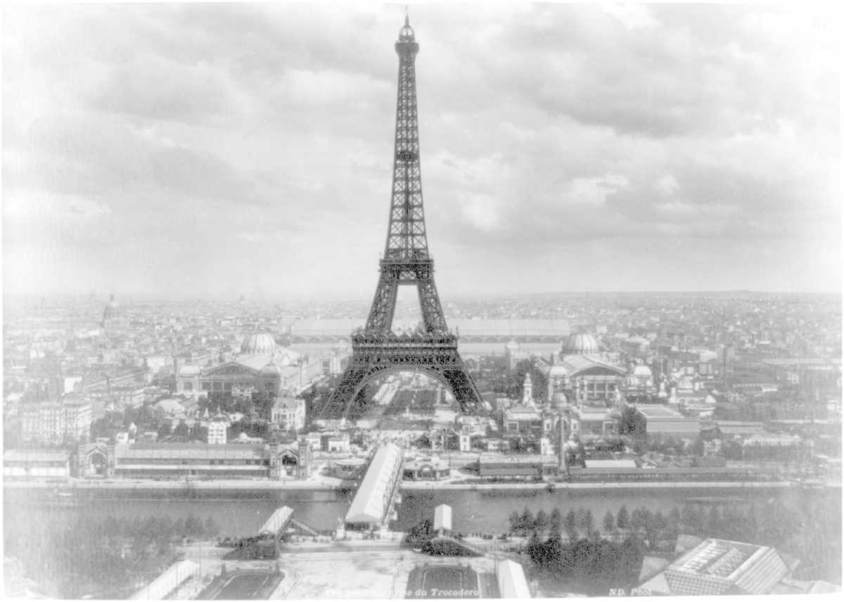 Eiffel tower at Exposition Universelle in Paris, 1889