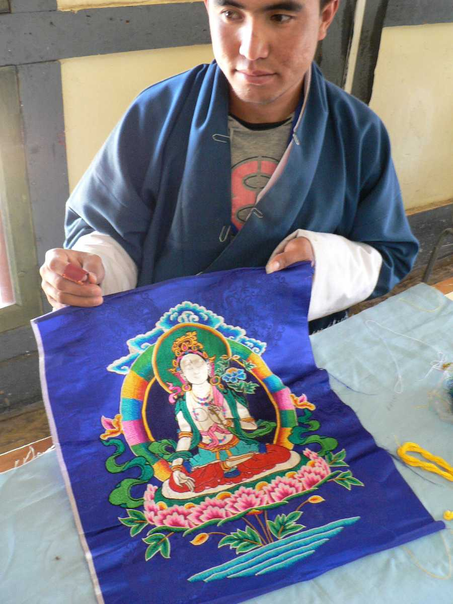 Tshemzo Embroidery in Bhutan