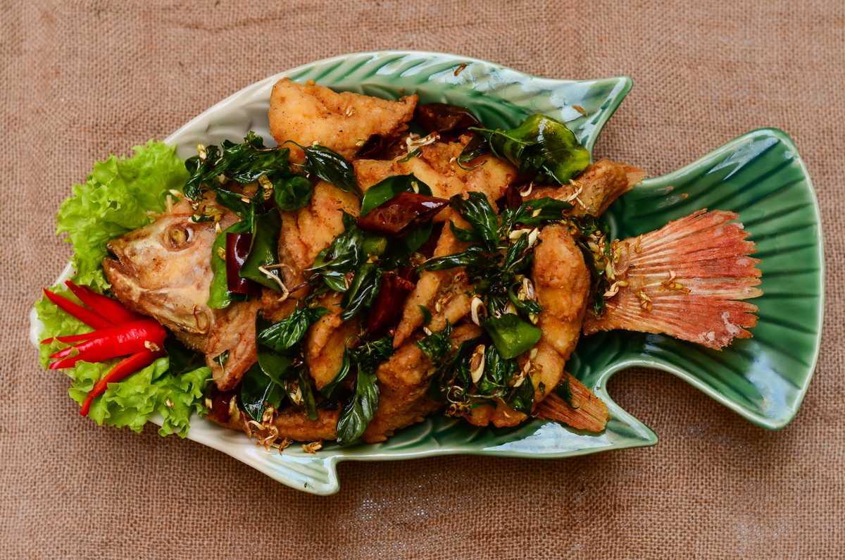 Fried Fish at Ruammit 1 Halal Restaurant Chiang Mai