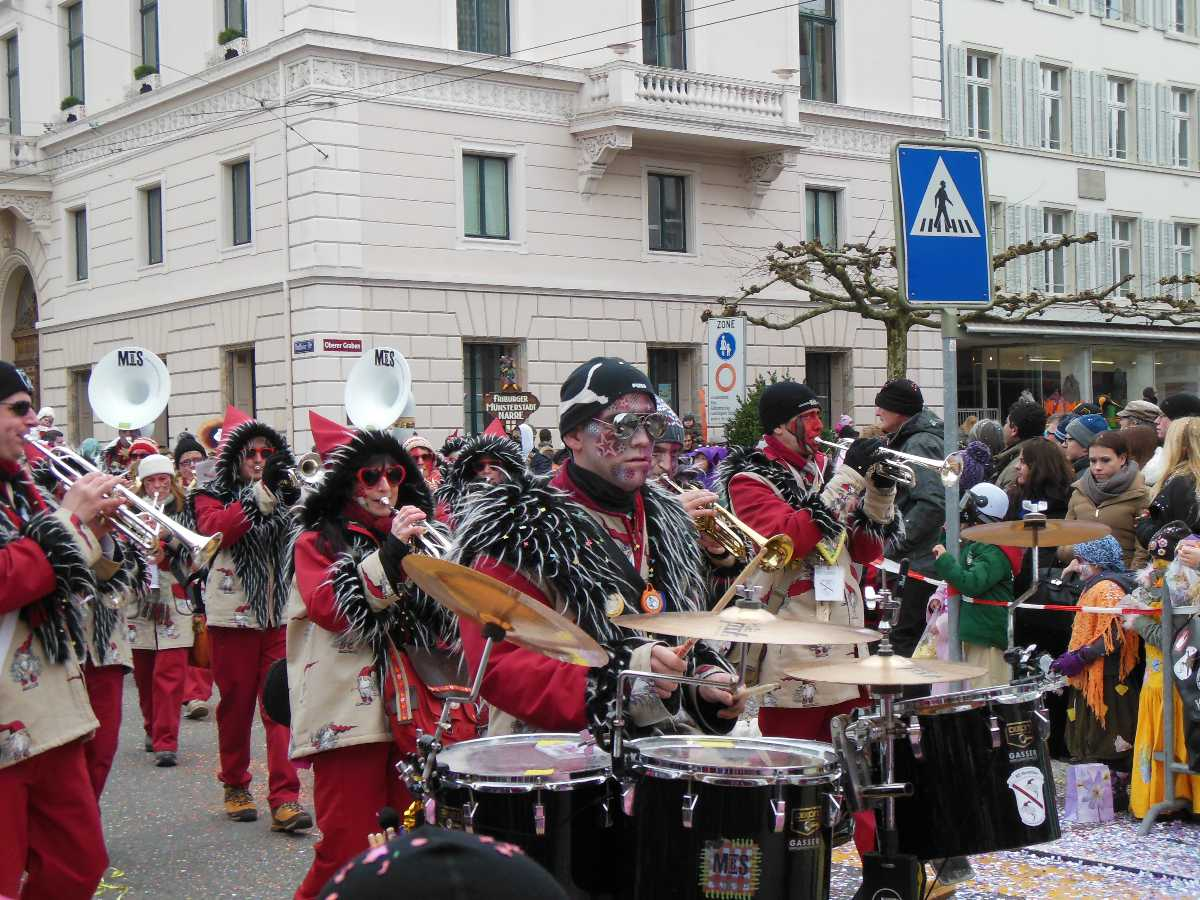 procession, band, graben