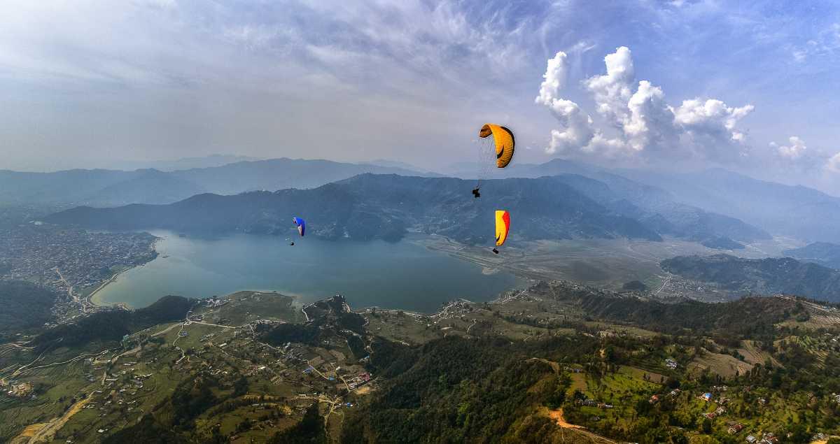 Paragliding in Lakeside Pokhara