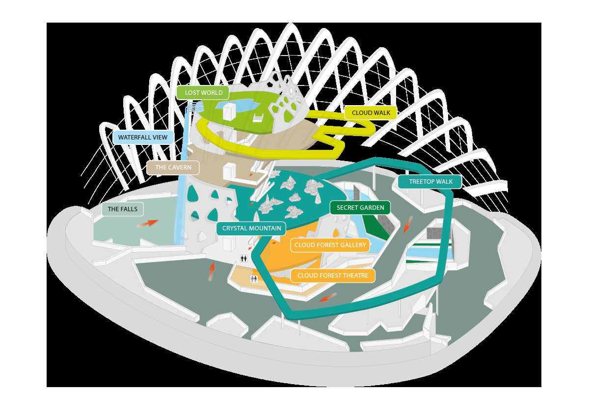 Map of Cloud Forest Dome