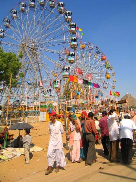 Giant Wheels at Pushkar Mela