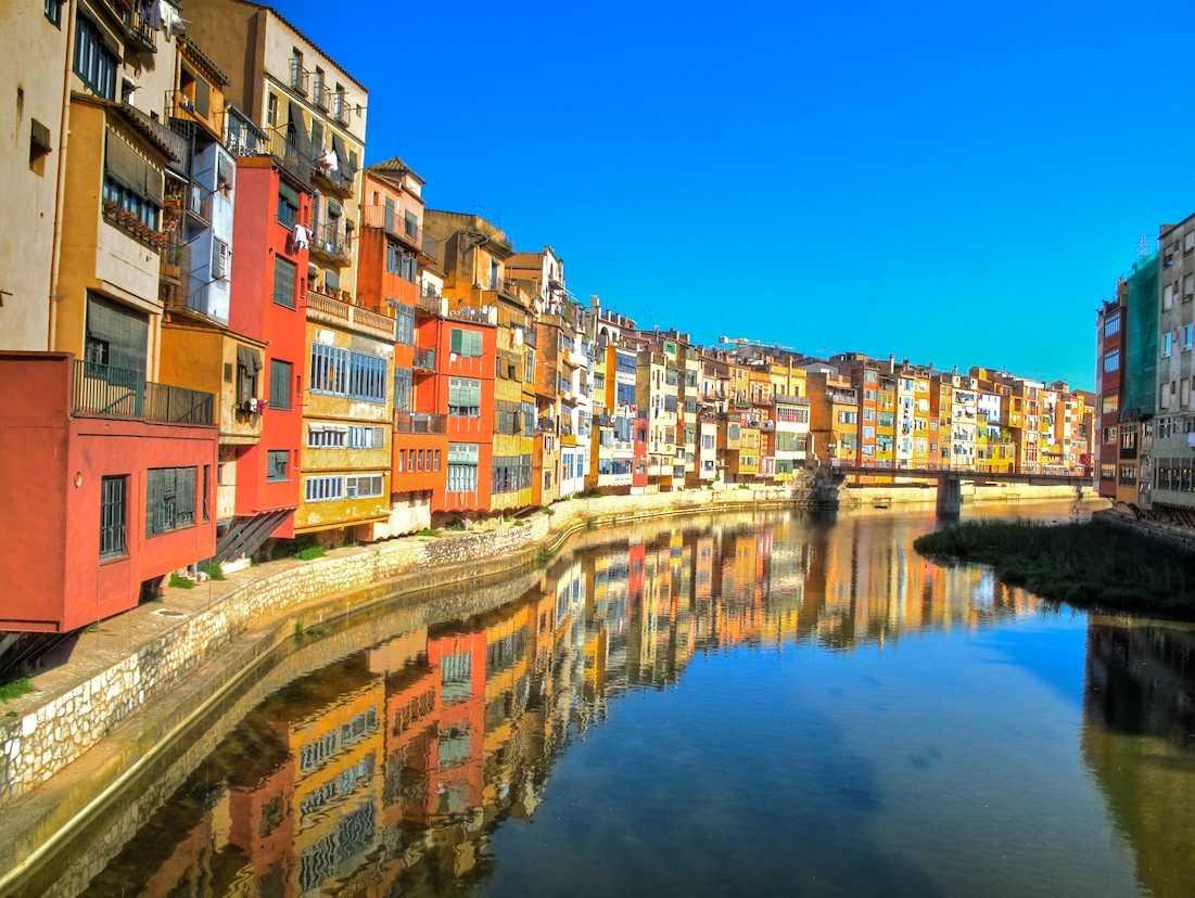 The Onyar River in Girona