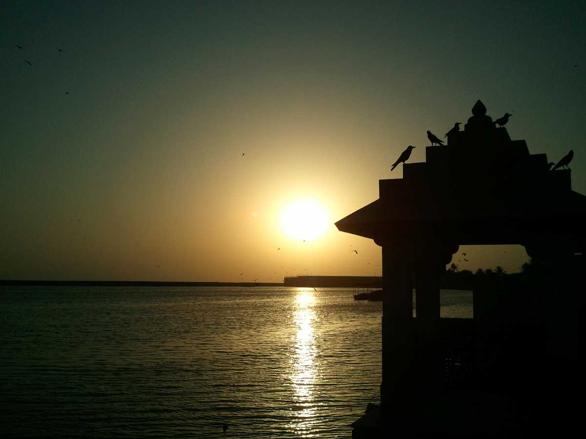 Gita Mandir on Triveni Ghat near Somnath Temple