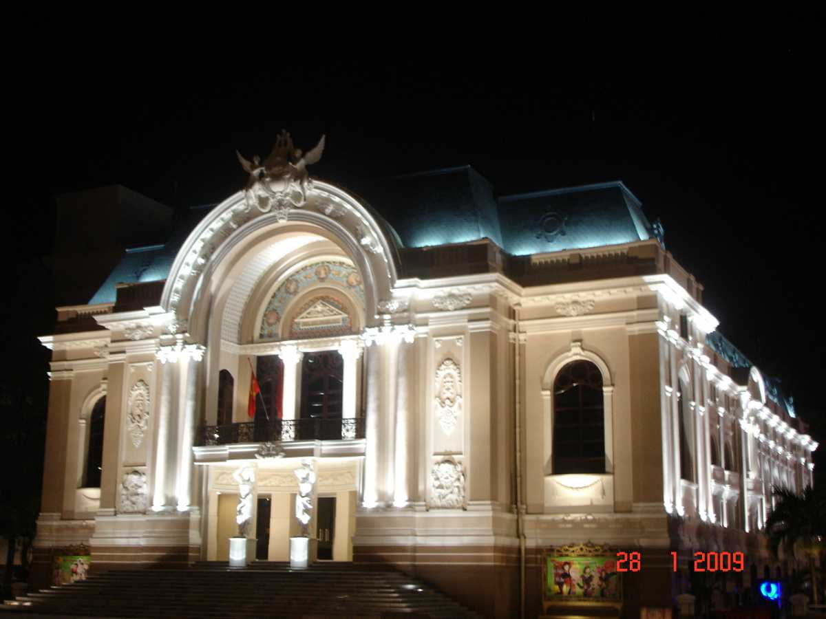 Saigon Opera House, French Colonial Architecture in Vietnam