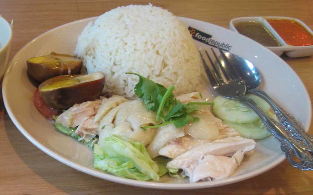 Chicken Rice, Street Food in Singapore