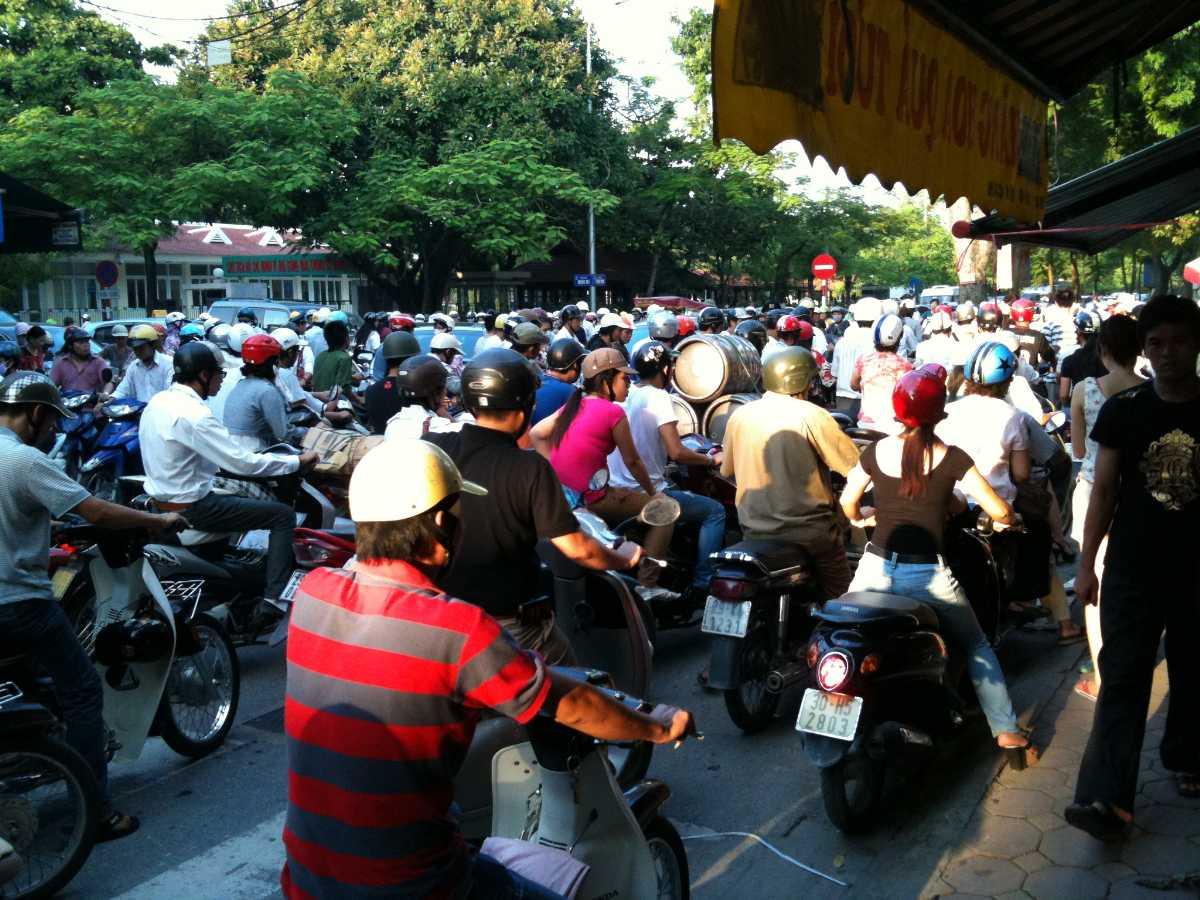 Traffic at Peak Hours in Hanoi