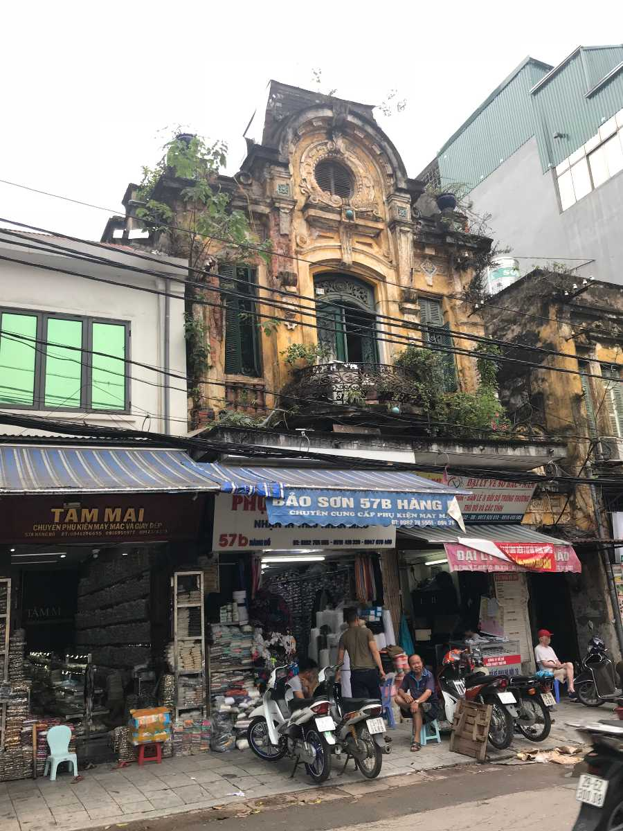 Old Architecture in Hanoi's Old Quarter