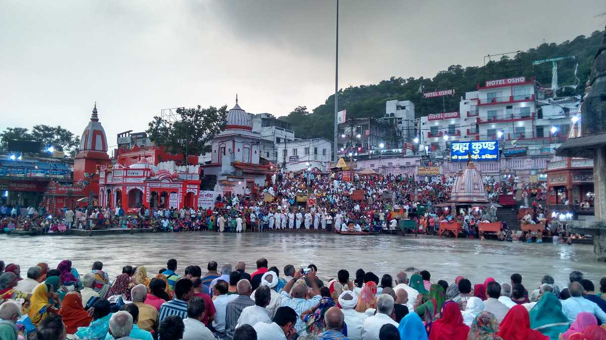 Har ki Pauri during Haridwar Kumbh Mela