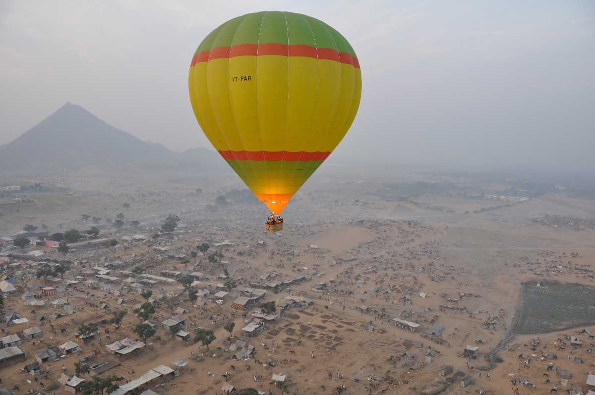 Hot air balloon ride at Pushkar