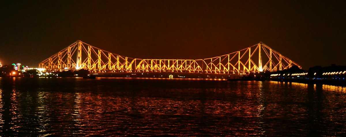 The Howrah Bridge at Night