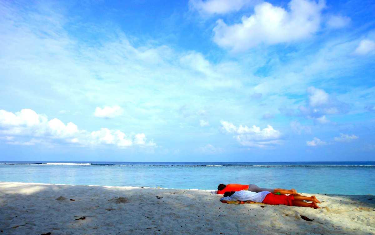 Hulhumale Beach in Maldives