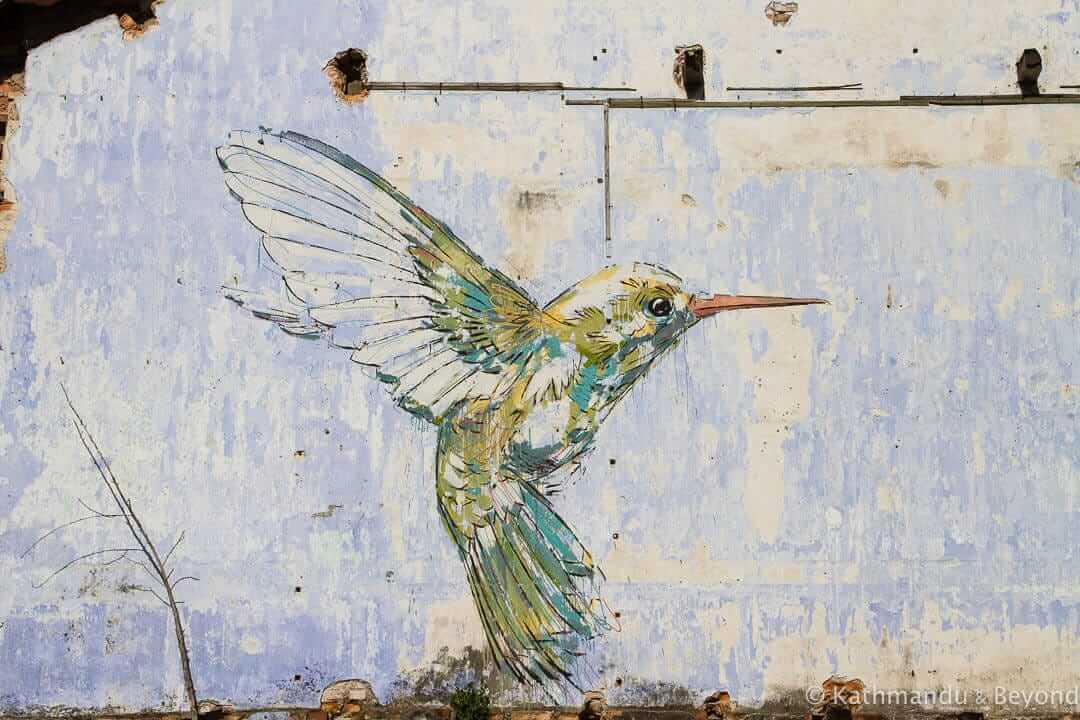 A Yellow Hummingbird mural, Art of Oldtown Ipoh