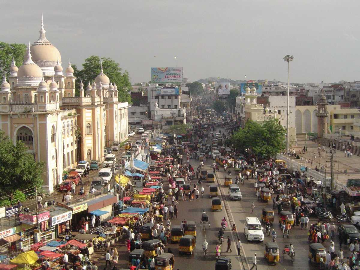 Hyderabad from Char Minar