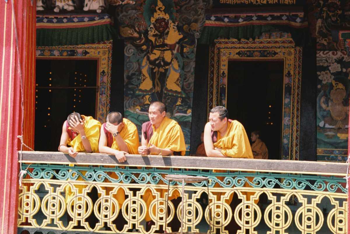 Monks in the Rumtek Monastery