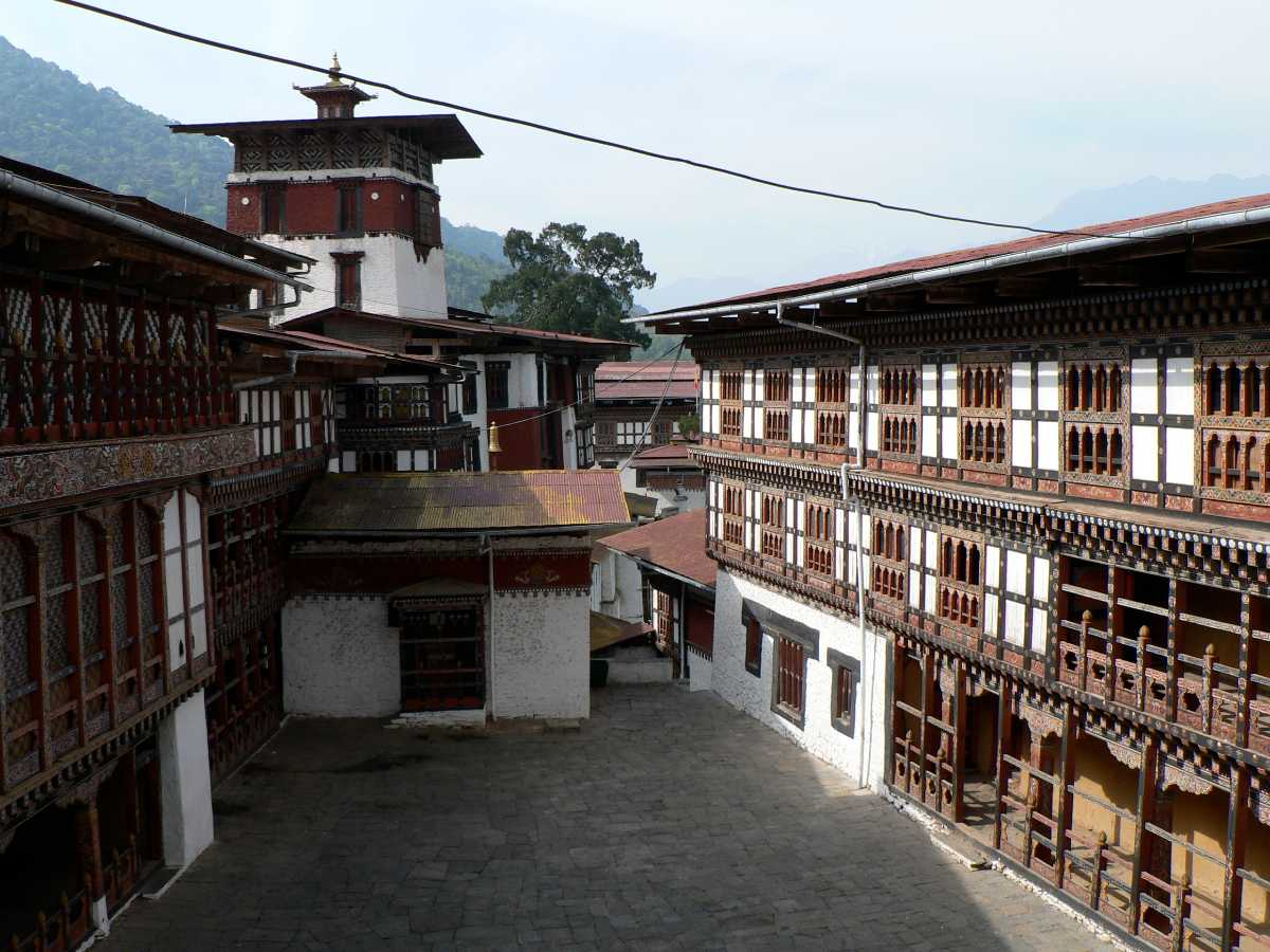 Interiors of Trongsa Dzong Bhutan