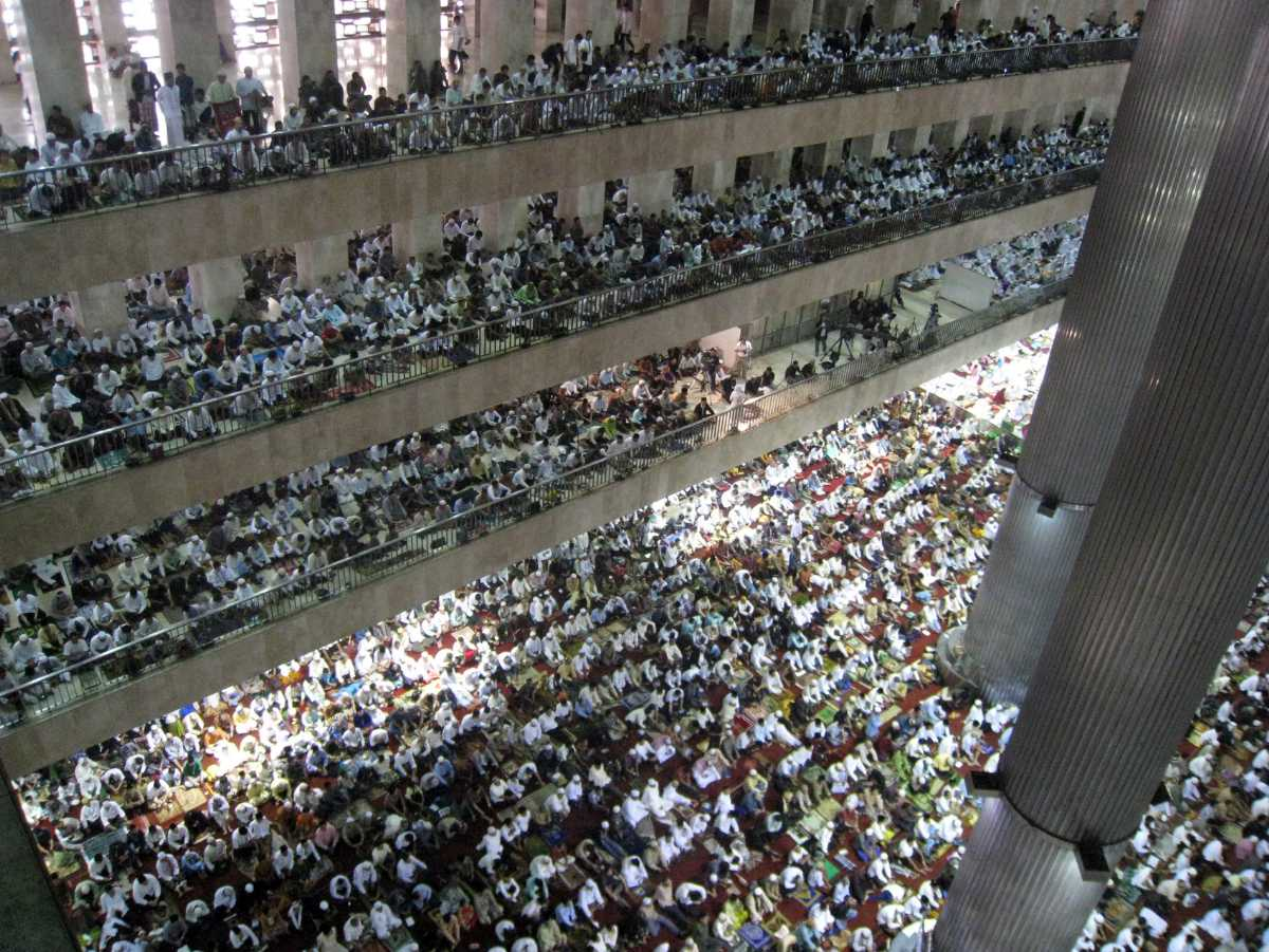 Eid-Ul-Fitr Prayers at Istiqlal Mosque Jakarta Indonesia