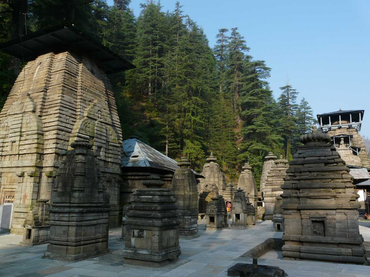 Jageshwar temple on a summer afternoon