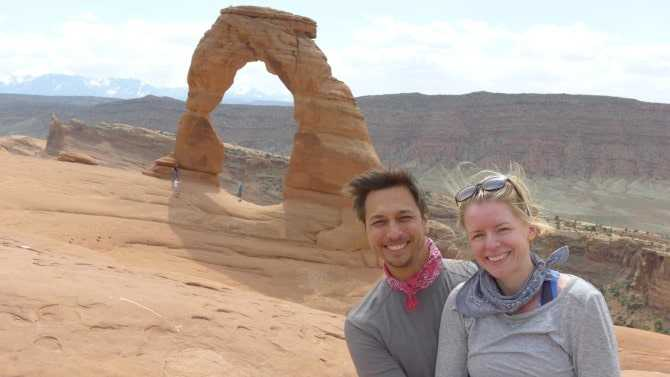 Zero to Travel's Jason with his wife Anna