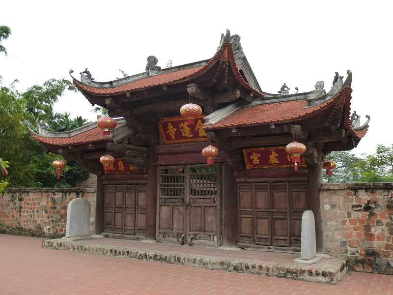 Entrance to Kim Lien Pagoda Hanoi