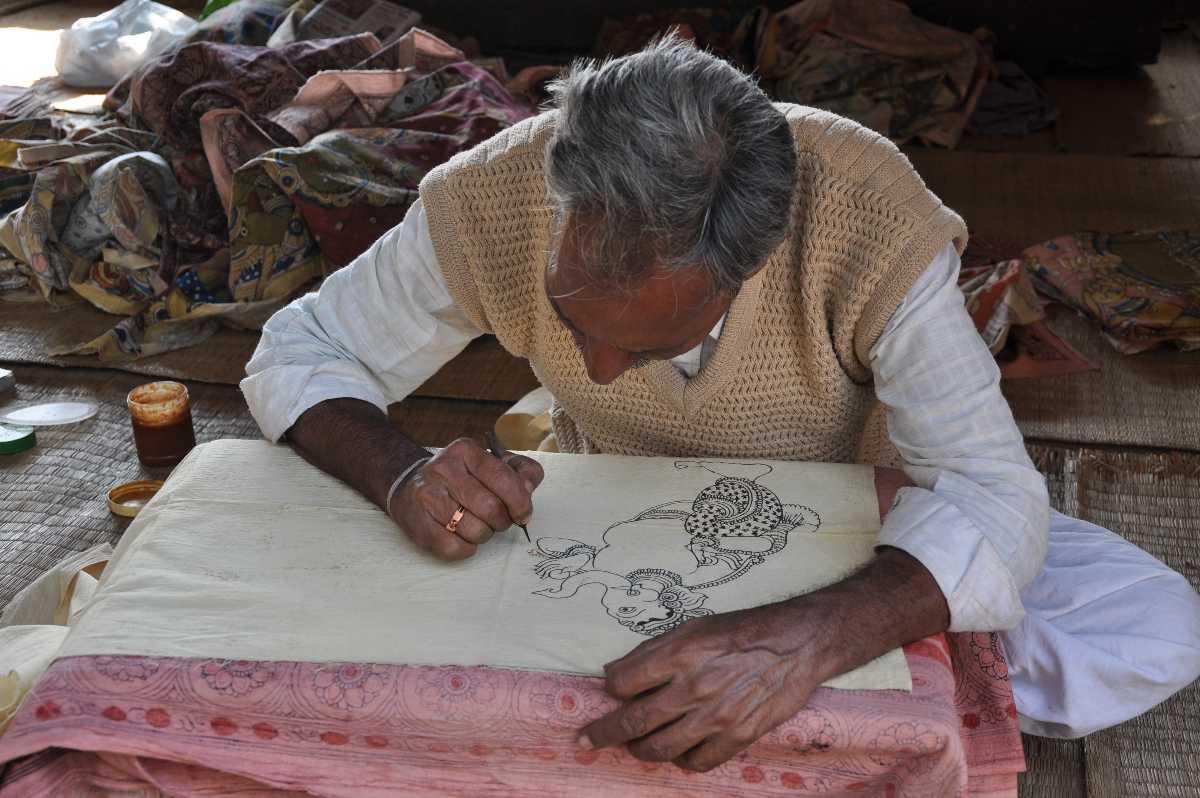 Kalamkari Paintings, shopping in tirupati