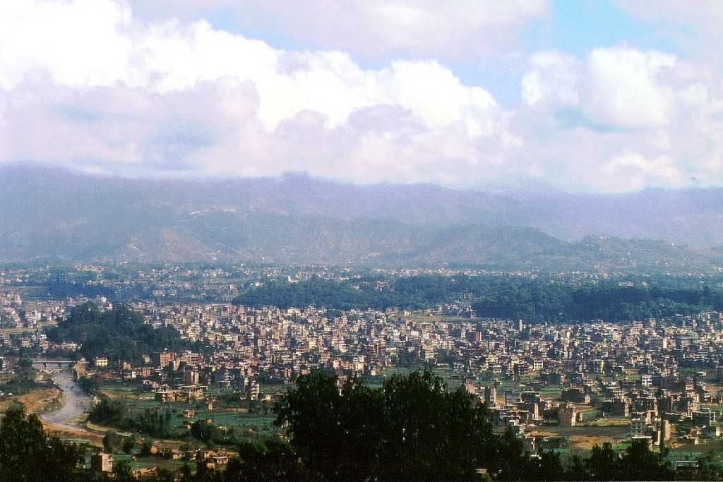 The view of Kathmandu Valley
